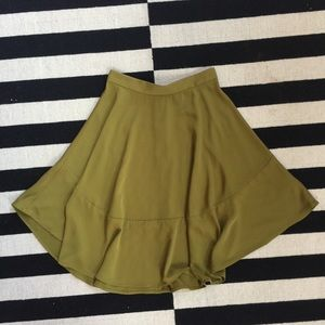 Flowy H&M Olive Green Skirt